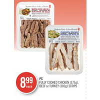 PC Fully Cooked Chicken, Beef Or Turkey Strips