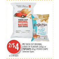 PC Thick Cut Original, Loads Of Flavour Or Popchips Potato Chips