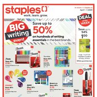 Staples - Weekly - Big Writing Event Flyer