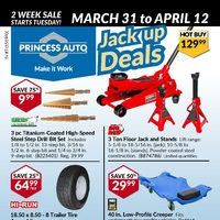 Princess Auto - Jack Up Deals Flyer