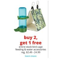 Entire Stock Bird Cage Feeding & Water Accessories