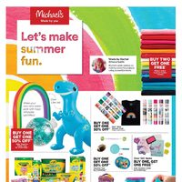 Michaels - Let's Make Summer Fun Flyer