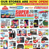 Factory Direct - Super Summer Sale! Flyer