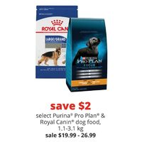 Purina Pro Plan & Royal Canin Dog Food