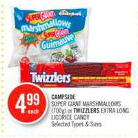 Campside Super Giant Marshmallows Or Twizzlers Extra Long Licorice Candy
