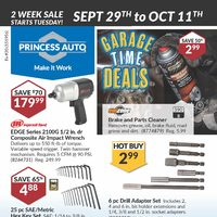 Princess Auto - 2 Week Sale - Garage Time Deals Flyer