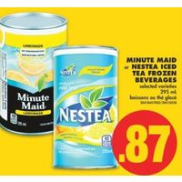 Minute Maid Or Nestea Iced Tea Beverages