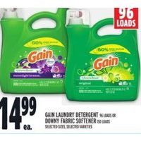 Gain Laundry Detergent or Downy Fabric Softener