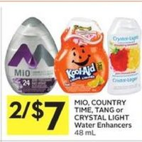Mio, Country Time, Tang Or Crystal Light Water Enhancers