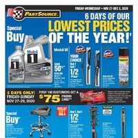 PartSource - 6 Days Of Our Lowest Prices Of The Year! Flyer