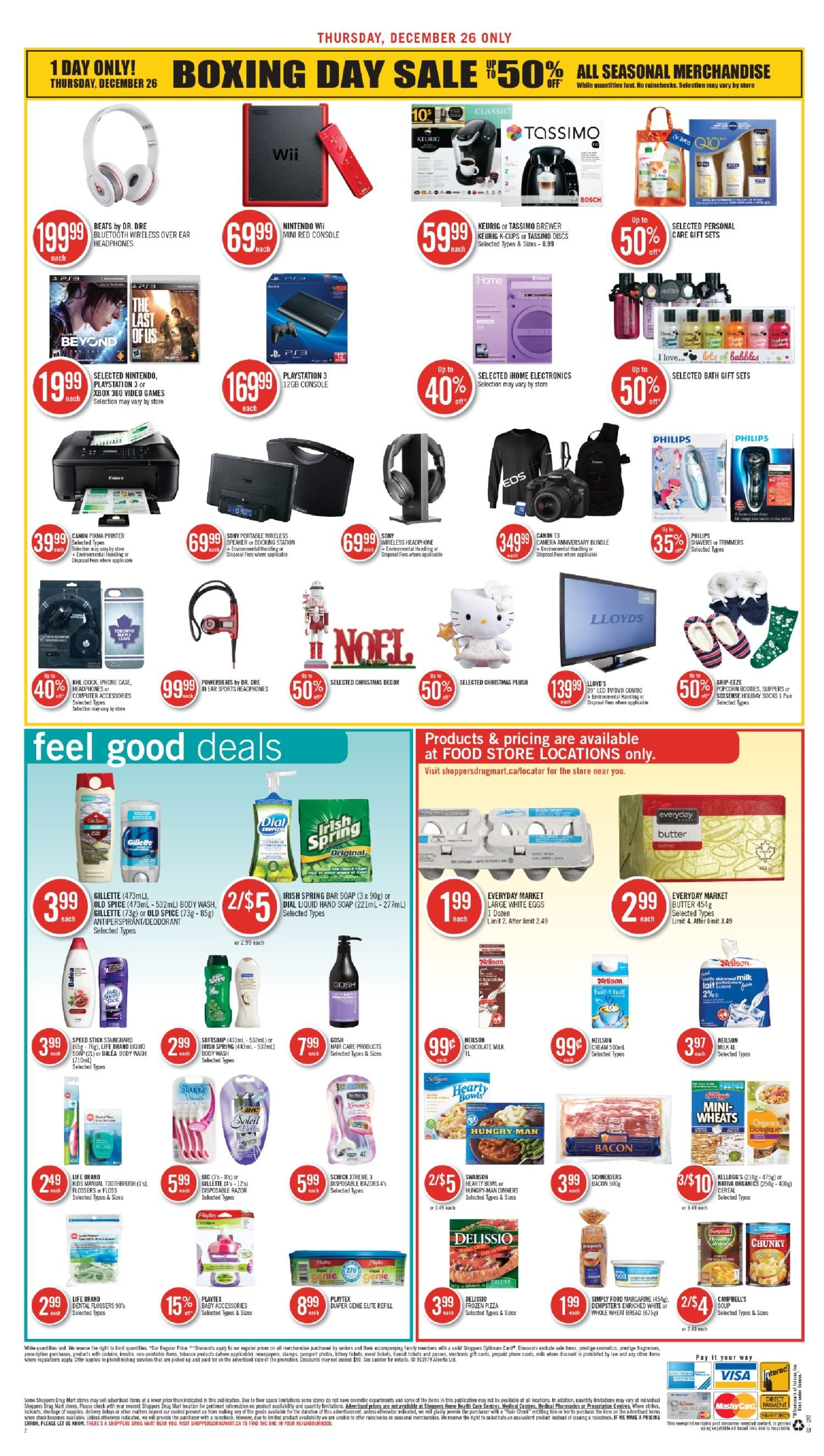 Shoppers Drug Mart Weekly Flyer Boxing Day Dec 26 26