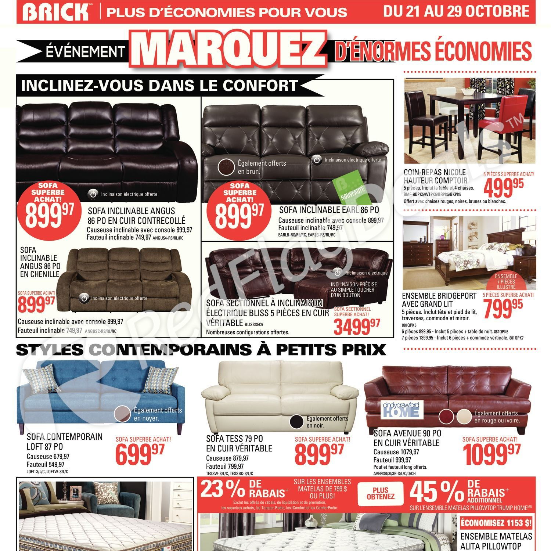 The Brick Weekly Flyer Evenement Marquez D Enormes Economies Fr