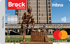 Brock University MBNA Rewards Mastercard® credit card