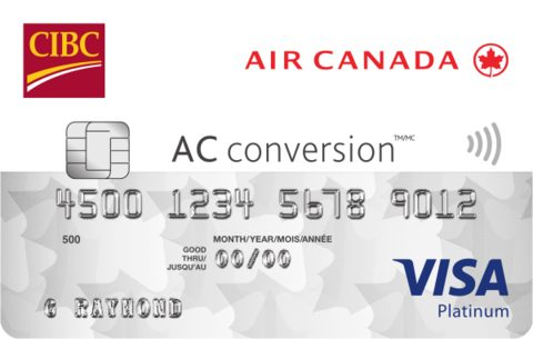 CIBC Air Canada® AC conversion™ Visa* Prepaid Card