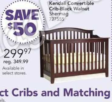 Toys R Us Shermag Kendall Convertible Crib Black Walnut 299 97