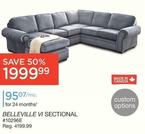Awe Inspiring Sears Belleville Vi 3 Piece Sofa Sectional Redflagdeals Com Download Free Architecture Designs Remcamadebymaigaardcom