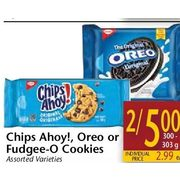 Chips Ahoy!, Oreo Or Fudgee-O Cookies  - 2/$5.00