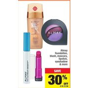 Almay Foundation, Blush, Mascara, Lipstick, Eyeshadow - 30% off