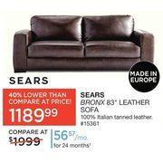 sears sears bronx 83 leather sofa redflagdeals com rh redflagdeals com sears leather sofa natuzzi sears italian leather sofa