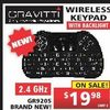 Gravitti Wireless Keyboard  - $19.98