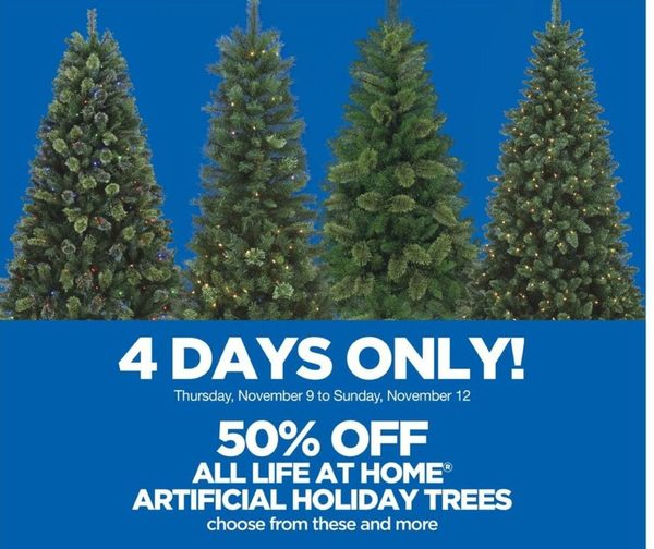 Real Canadian Superstore: All Life at Home Artificial Holiday Trees -  RedFlagDeals.com - Real Canadian Superstore: All Life At Home Artificial Holiday Trees