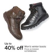 Men's Winter Boots - Up to 40% off