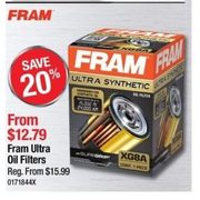 Fram Ultra Oil Filters - From $12.79 (20% off)