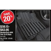 WeatherTech AVM Trim To Fit Mats - $59.15 - $63.95 (20% off)