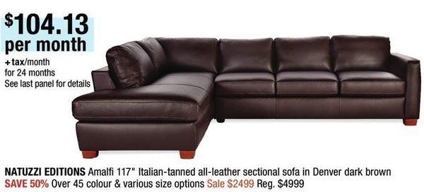 Outstanding Home Outfitters Natuzzi Editions Amalfi 117 Italian Tanned Creativecarmelina Interior Chair Design Creativecarmelinacom