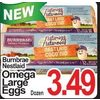 Burnbrae Nestlaid Omega Large Eggs  - $3.49