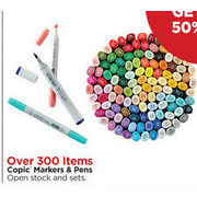 Copic Markers & Pens - BOGO 50% off