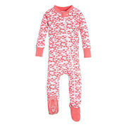 Burt's Bees Baby® Butterfly Escape Footed Sleeper In Pink - $16.99 ($5.00 Off)