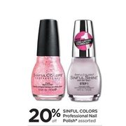 Sinful Colors Professional Nail Polish - 20% off