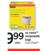 No Name Compostable Bags Club Pack - $9.99/100's