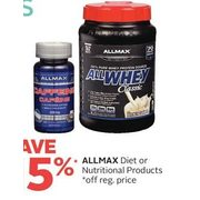 Allmax Diet or Nutritional Products - 15% off