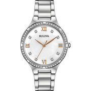 Bulova 34mm Women's Dress Watch with Swarovski Crystals - Silver/White/Rose Gold - $119.99 ($130.00 off)