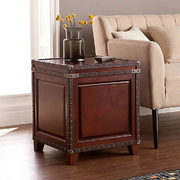 Southern Enterprises Amherst Trunk End Table In Dark Cherry - $399.49 ($70.50 Off)