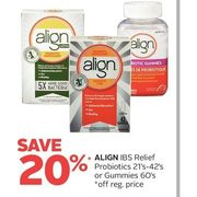 Align IBS Relief Probiotics Or Gummies - 20% off