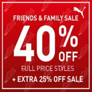 Puma Friends & Family Sale: 40% off Full Price Styles + EXTRA 25% off Sale