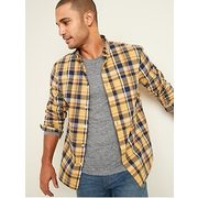 Regular-fit Built-in Flex Plaid Everyday Shirt For Men - $25.00 ($14.99 Off)