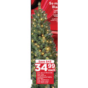 4 Ft. Pre-Lit Riverside Pine Tree - $34.99 ($45.00 off)
